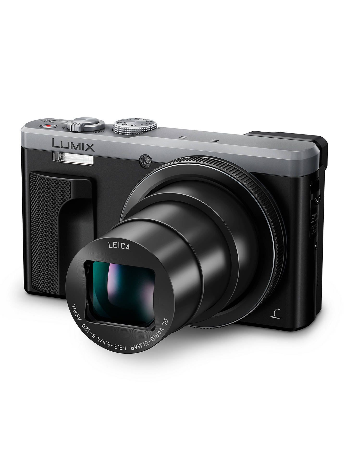 "Buy Panasonic LUMIX DMC-TZ80EB Super Zoom Digital Camera, 4K Ultra HD, 18.1MP, 30x Optical Zoom, Wi-Fi, EVF, 3"" LCD Touch Screen, Silver Online at johnlewis.com"
