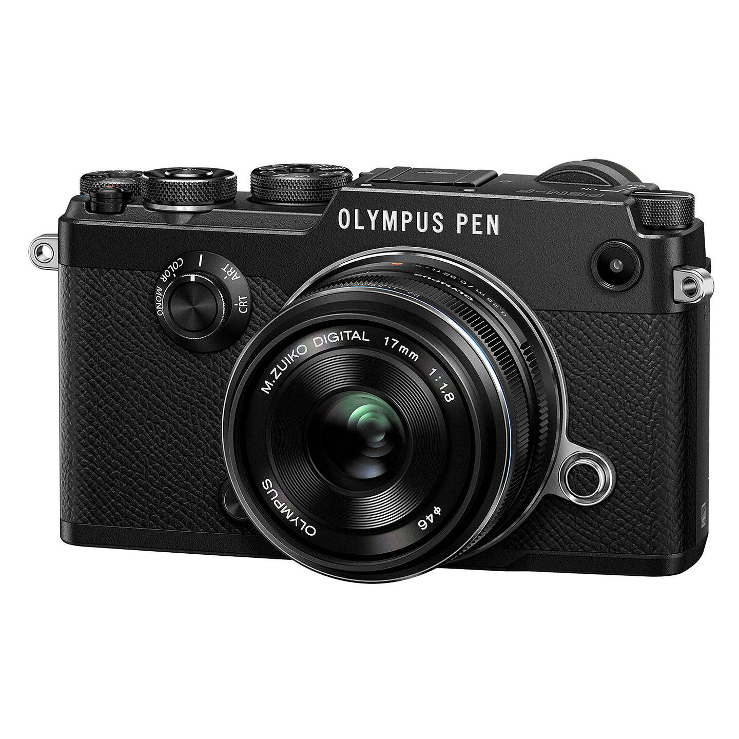 "BuyOlympus Pen F Compact System Camera With M.ZUIKO 17mm Prime Lens, HD 1080p, 20.3MP, Wi-Fi, Front Creative Dial, 5-Axis IS, 3"" Vari-Angle Touch Monitor, Black Online at johnlewis.com"