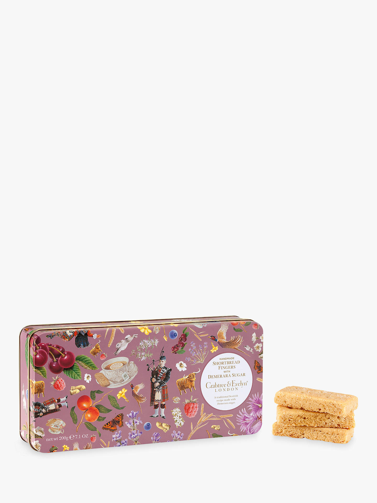 BuyCrabtree & Evelyn Demerara Shortbread Fingers Biscuits Online at johnlewis.com