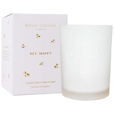 Katie Loxton 'Bee Happy' Grapefruit and Peony Scented Candle