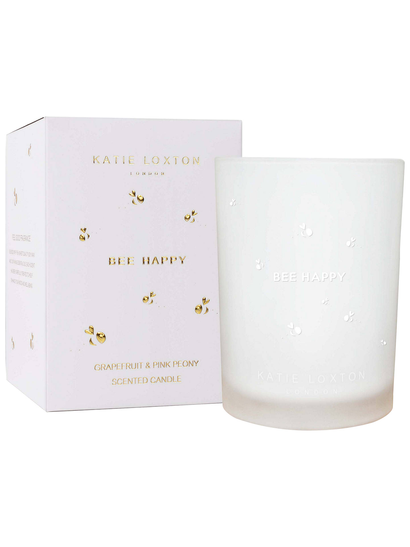 Buy Katie Loxton 'Bee Happy' Grapefruit and Peony Scented Candle Online at johnlewis.com