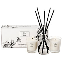 Buy Stoneglow White Orchid Scented Candles and Diffuser Gift Set, New White Linen Online at johnlewis.com