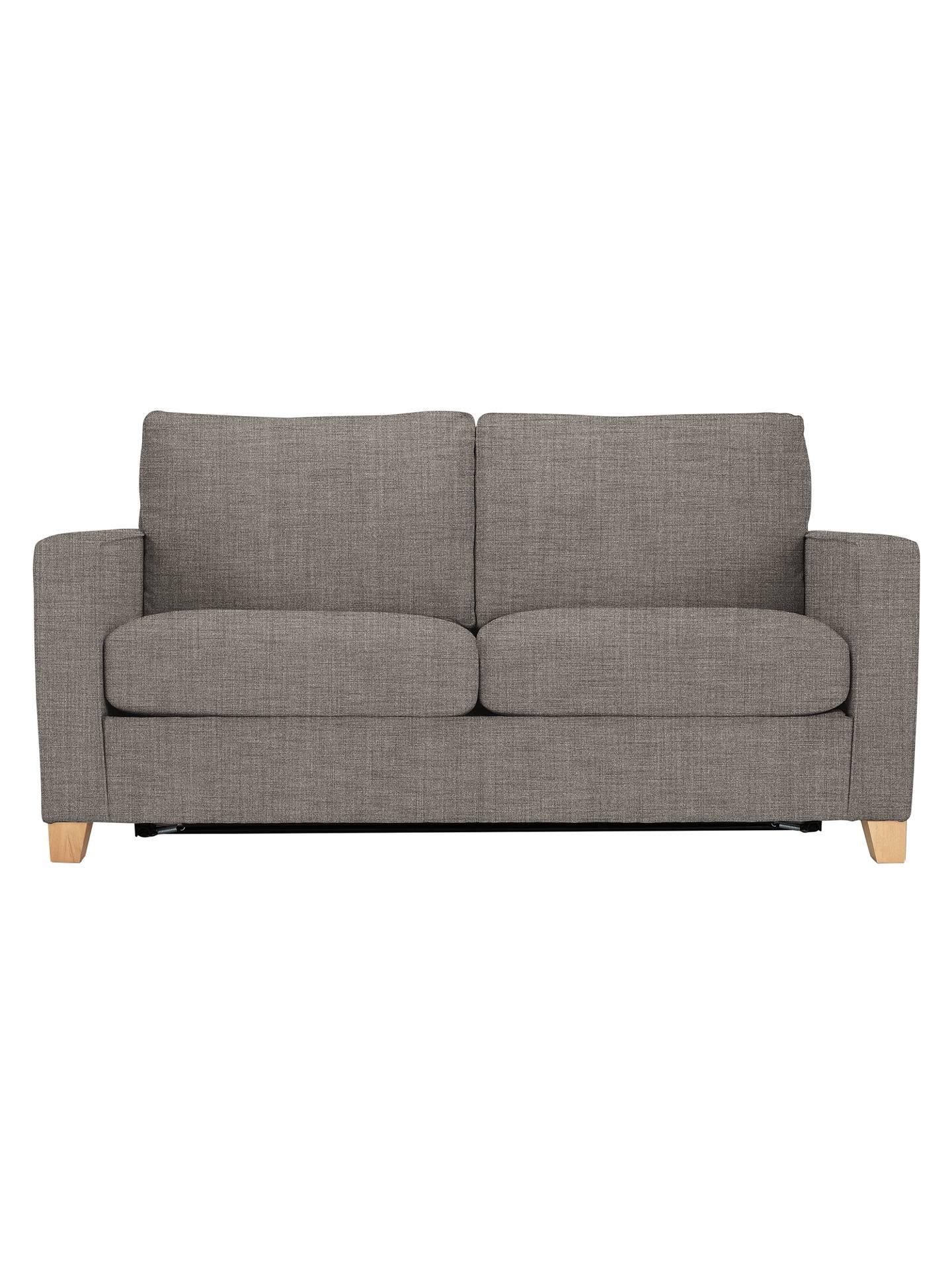 John Lewis The Basics Jackson Medium 2 Seater Sofa Bed Light Legs Hayden Silver