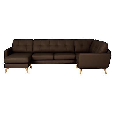 John Lewis Barbican Semi-Aniline Leather Corner End Sofa with LHF Chaise Unit