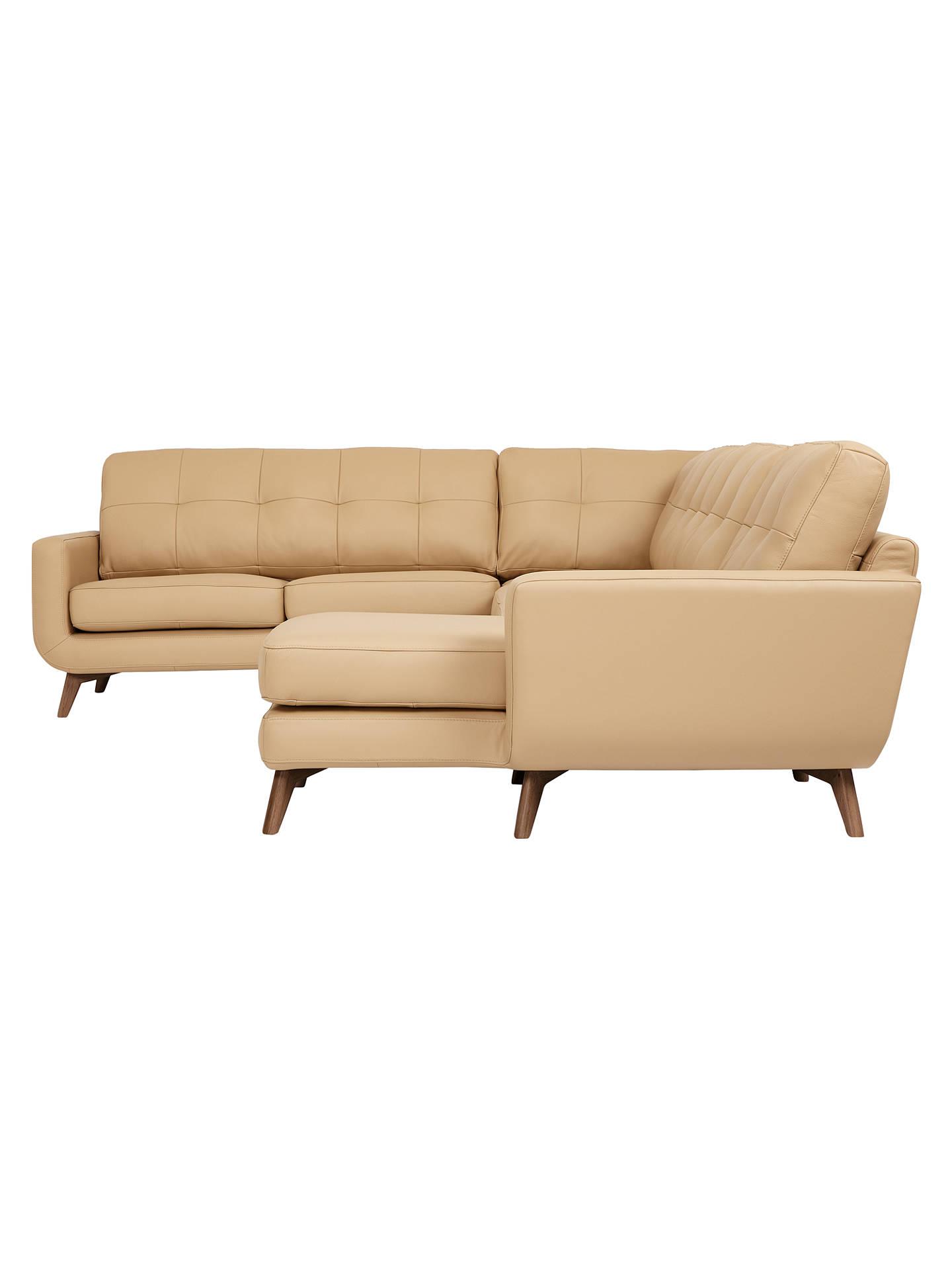 dd91f342f70 BuyJohn Lewis Barbican Semi-Aniline Leather Corner End Sofa with RHF Chaise  .