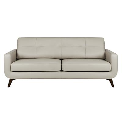 John Lewis Barbican Large 3 Seater Leather Sofa, Dark Leg