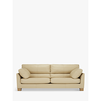 John Lewis Ikon High Back Large 3 Seater Leather Sofa