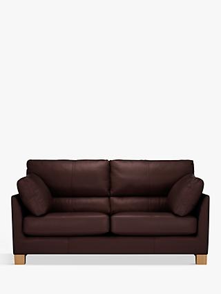 John Lewis & Partners Ikon High Back Medium 2 Seater Leather Sofa