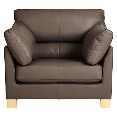 John Lewis Ikon High Back Leather Armchair