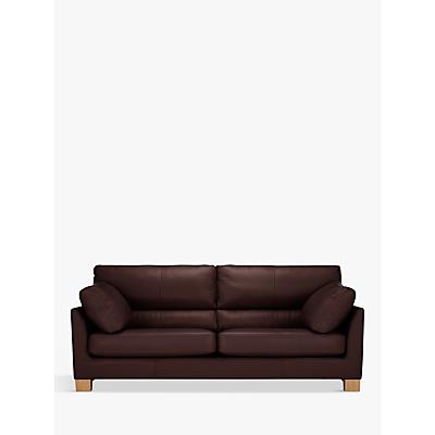 John Lewis Ikon High Back Grand 4 Seater Leather Sofa