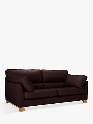 John Lewis & Partners Ikon High Back Large 3 Seater Leather Sofa