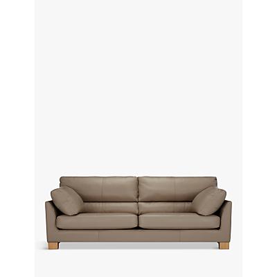 John Lewis Ikon High Back Large 3 Seater Leather Sofa