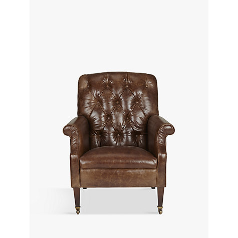 Buy Tetrad Harris Tweed Flynn Leather Armchair John Lewis