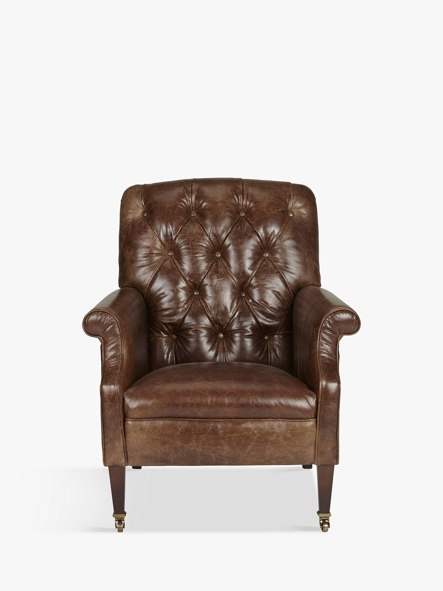 Miraculous Tetrad Flynn Leather Armchair Brompton Tan At John Lewis Ncnpc Chair Design For Home Ncnpcorg