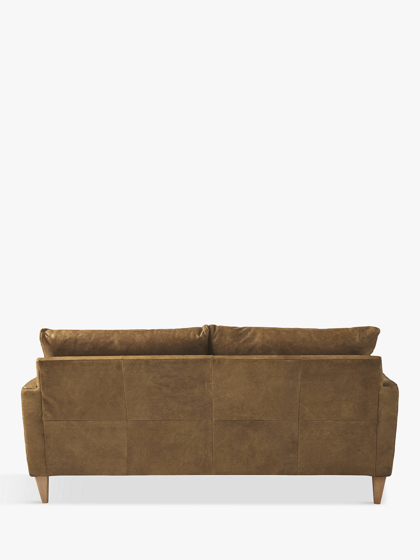 John Lewis Partners Bailey Small 2 Seater Leather Sofa Er Cuccino Online At Johnlewis