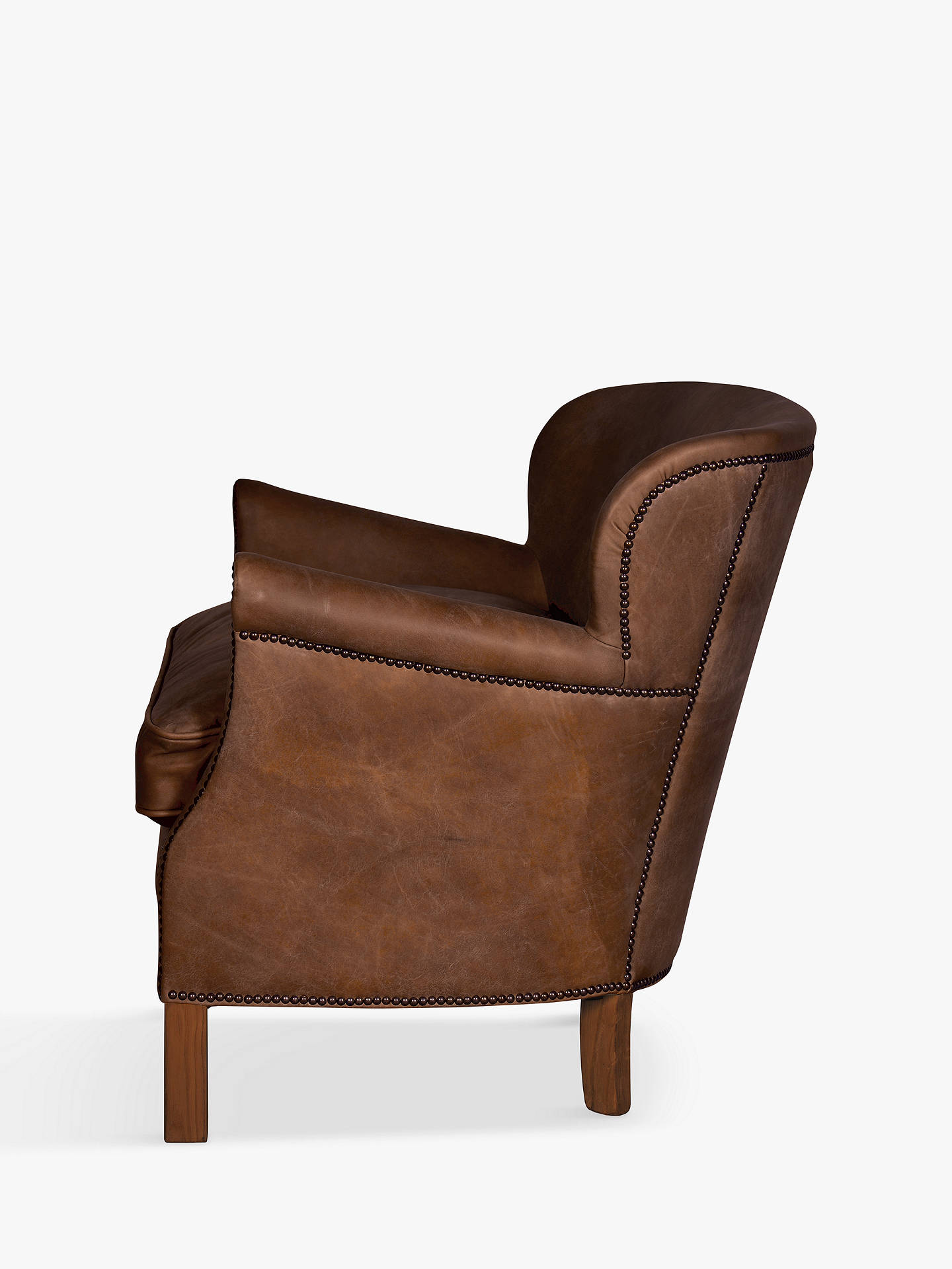 Halo Little Professor Leather Armchair Antique Whiskey At Johnlewis Com