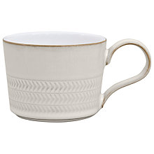 Buy Denby Natural Canvas Textured Teacup Online at johnlewis.com