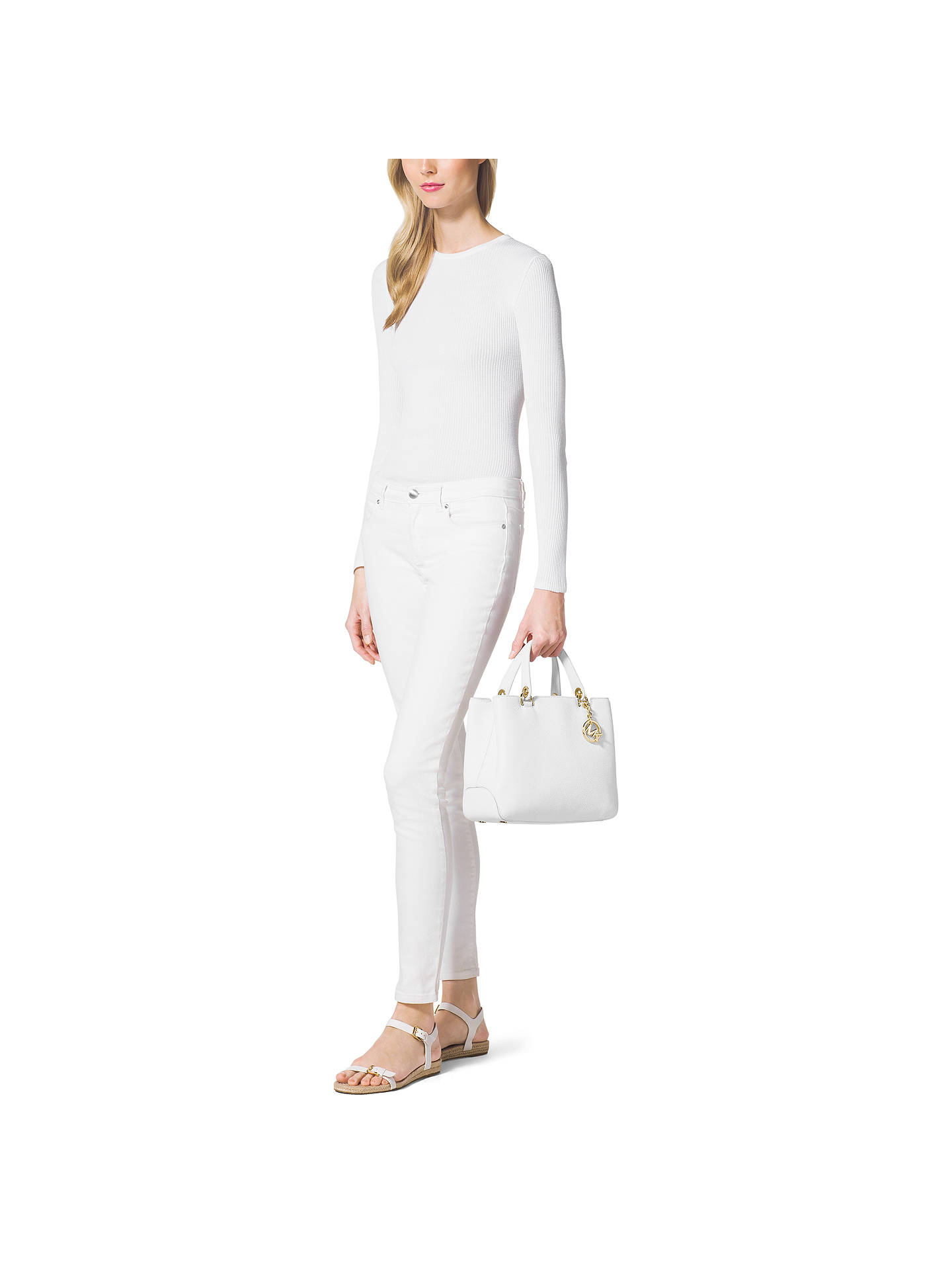 9d3cc0a12478 ... Buy MICHAEL Michael Kors Anabelle Medium Top Zip Leather Tote Bag