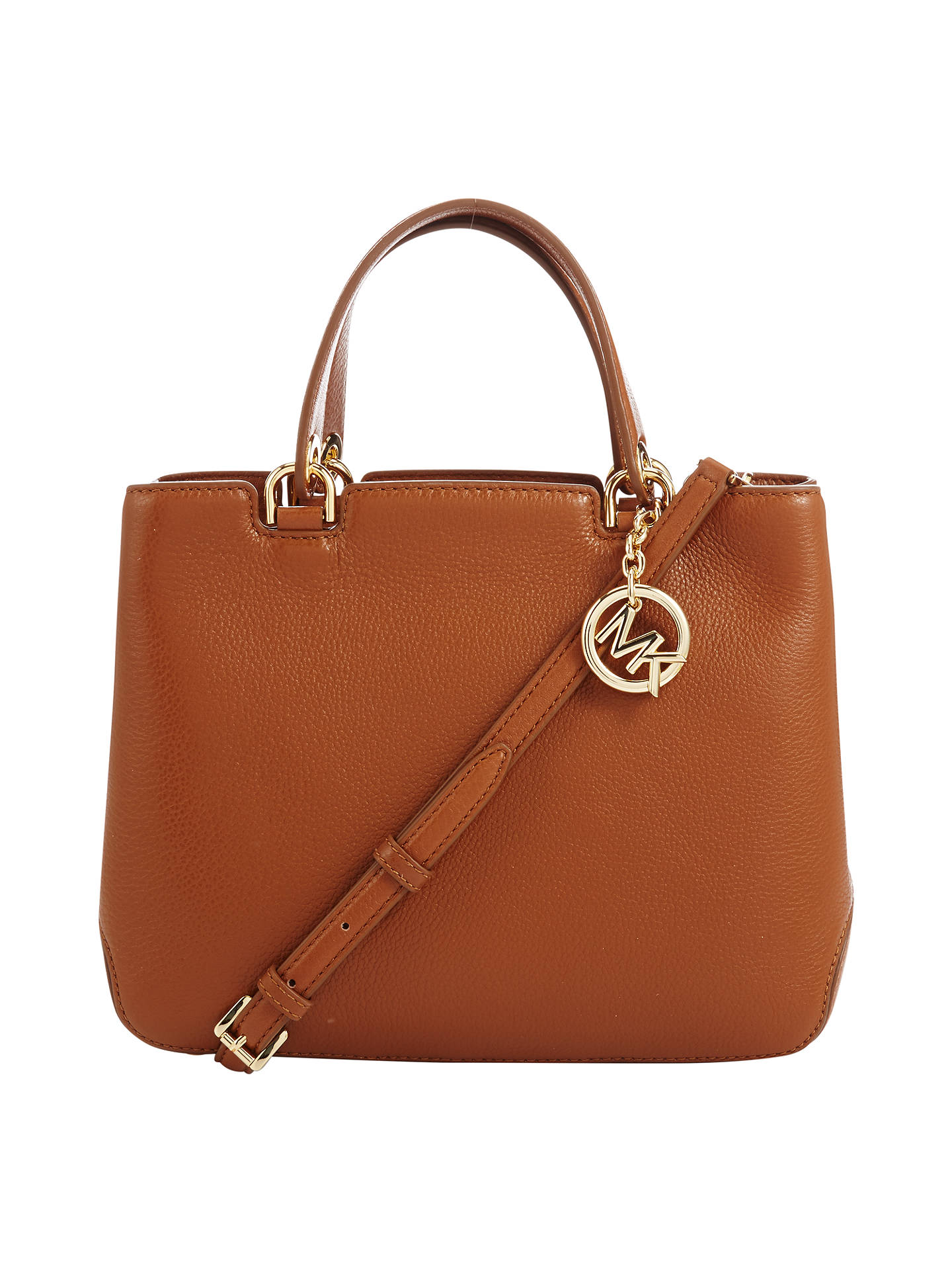 125f5be8518a Buy MICHAEL Michael Kors Anabelle Medium Top Zip Leather Tote Bag, Luggage  Online at johnlewis ...