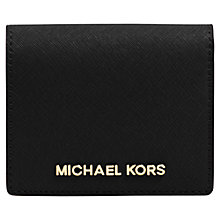 Buy MICHAEL Michael Kors Jet Set Travel Flapover Leather Card Holder Online at johnlewis.com