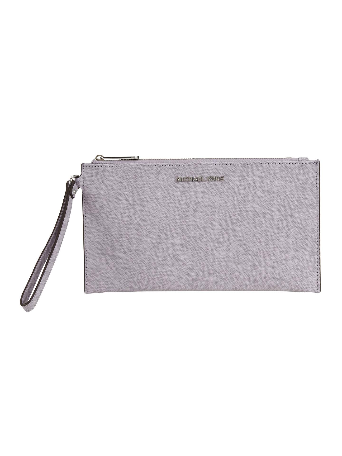 e7e39d0197b2 Buy MICHAEL Michael Kors Jet Set Travel Leather Zip Clutch Bag, Lilac  Online at johnlewis ...
