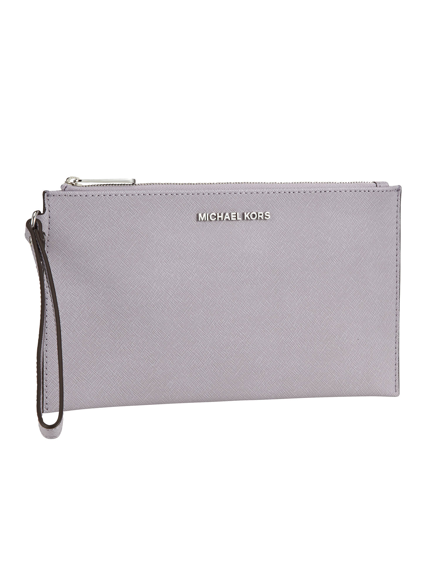 acd626cccf6e ... Buy MICHAEL Michael Kors Jet Set Travel Leather Zip Clutch Bag, Lilac  Online at johnlewis ...