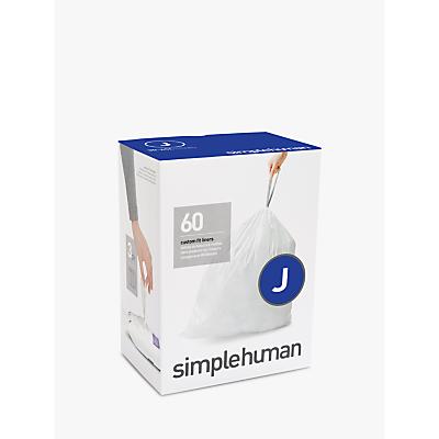 simplehuman Bin Liners, Size J, Three Packs of 20