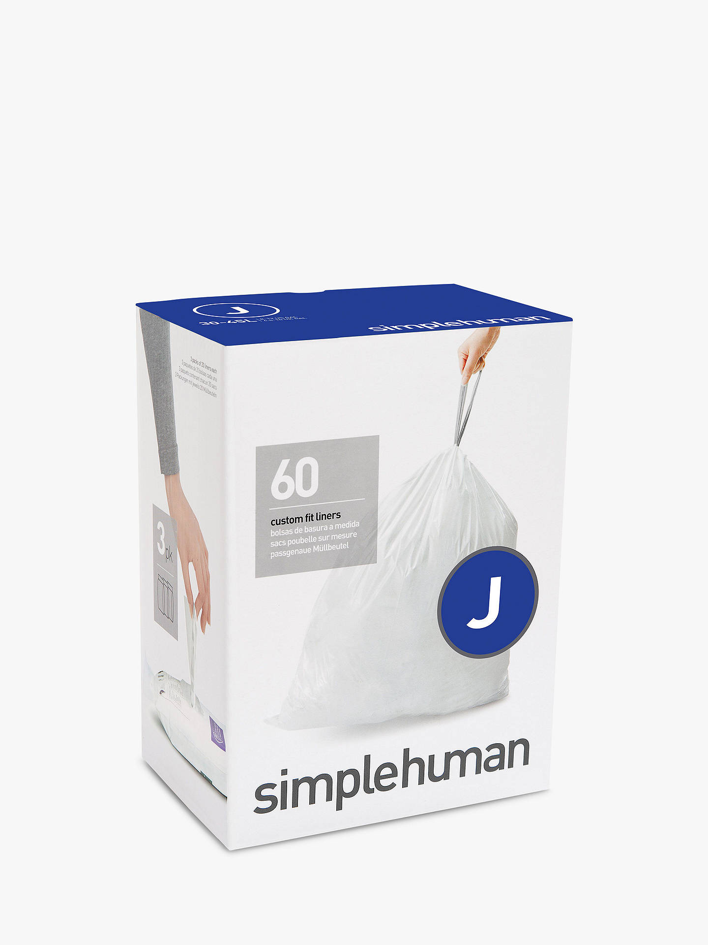 Buy simplehuman Bin Liners, Size J, Three Packs of 20 Online at johnlewis.com