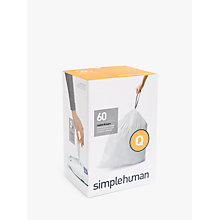Buy simplehuman Size Q Bin Liners, 3 Packs of 20 Online at johnlewis.com