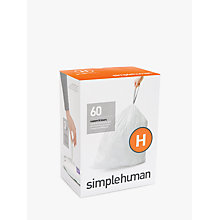 Buy simplehuman Size H Bin Liners, 3 Packs of 20 Online at johnlewis.com
