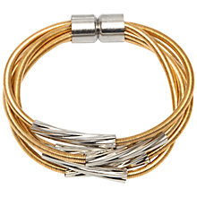 Buy Adele Marie Multi Row Sprung Coil and Tubes Magnetic Catch Bracelet Online at johnlewis.com