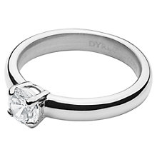 Buy Dyrberg/Kern Solitaire Cubic Zirconia Ring, Silver Online at johnlewis.com