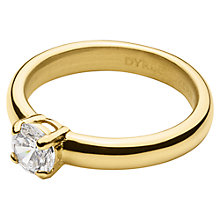 Buy Dyrberg/Kern Solitaire Cubic Zirconia Ring, Gold Online at johnlewis.com