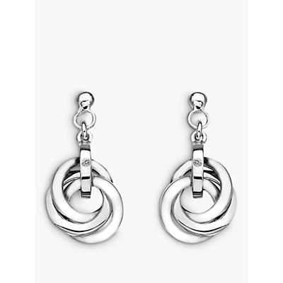 Image of            Hot Diamonds Trio Drop Earrings, Silver