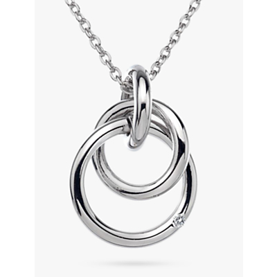 Image of Hot Diamonds Eternity Pendant Necklace, Silver