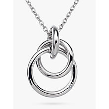 Buy Hot Diamonds Eternity Pendant Necklace, Silver Online at johnlewis.com