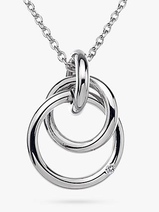 Hot Diamonds Eternity Pendant Necklace, Silver
