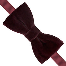 Buy Thomas Pink Velvet Ready To Wear Bow Tie Online at johnlewis.com
