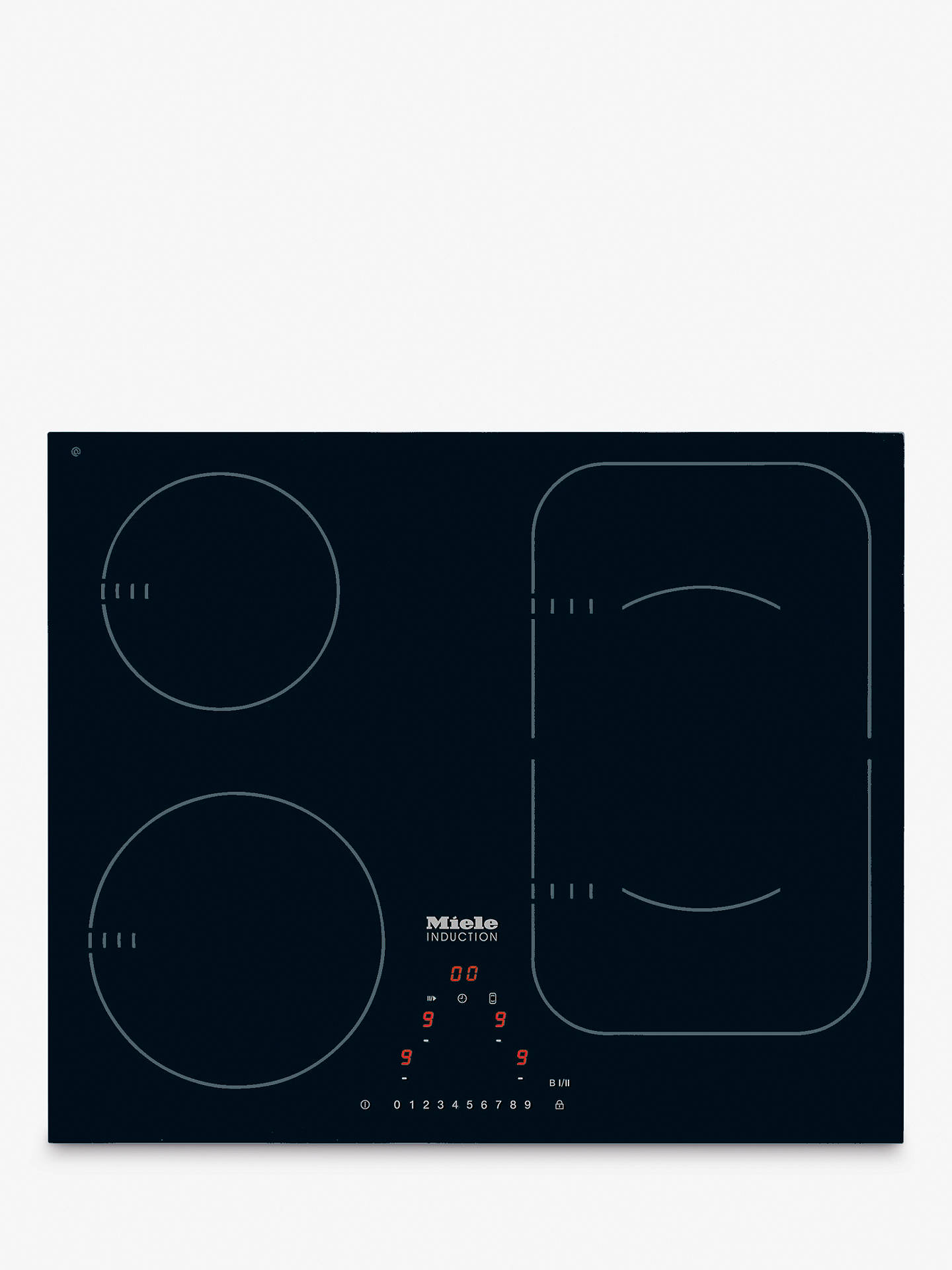 Buy Miele KM6323 Induction Hob Online at johnlewis.com