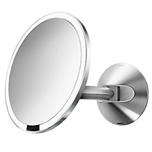 Buy simplehuman Wall Mounted Bathroom Sensor Mirror, Mains Operated Online at johnlewis.com
