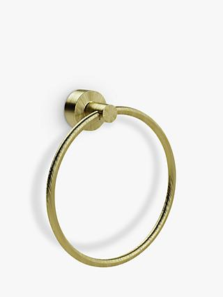 Miller Bond Brass Towel Ring