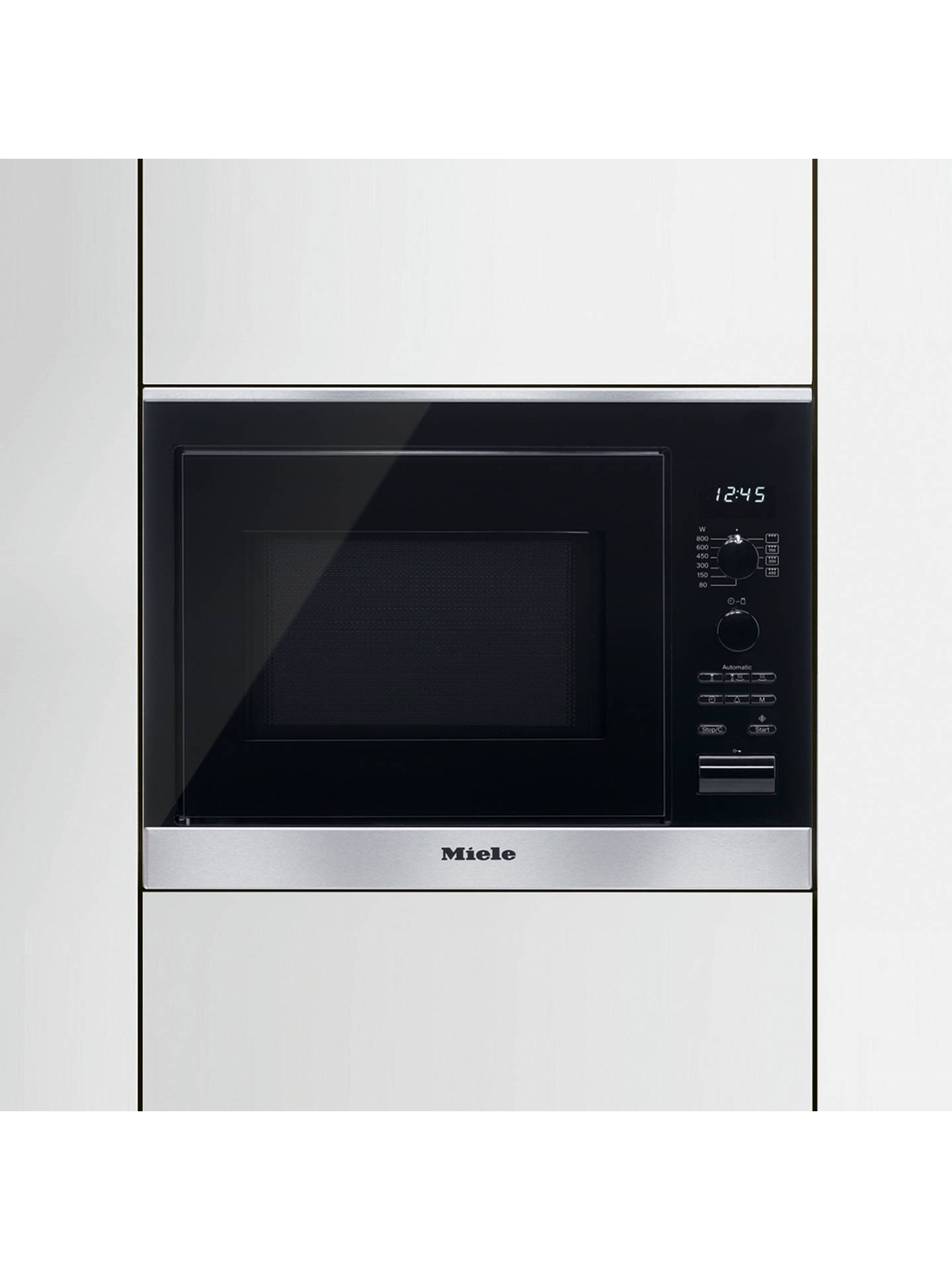 BuyMiele M6022SC Built-In Microwave Oven, Clean Steel Online at johnlewis.com