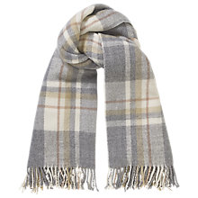 Buy Phase Eight Gigi Tartan Scarf, Pale Grey Online at johnlewis.com