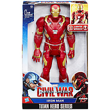 Buy The Avengers Titan Hero Series Iron Man Online at johnlewis.com