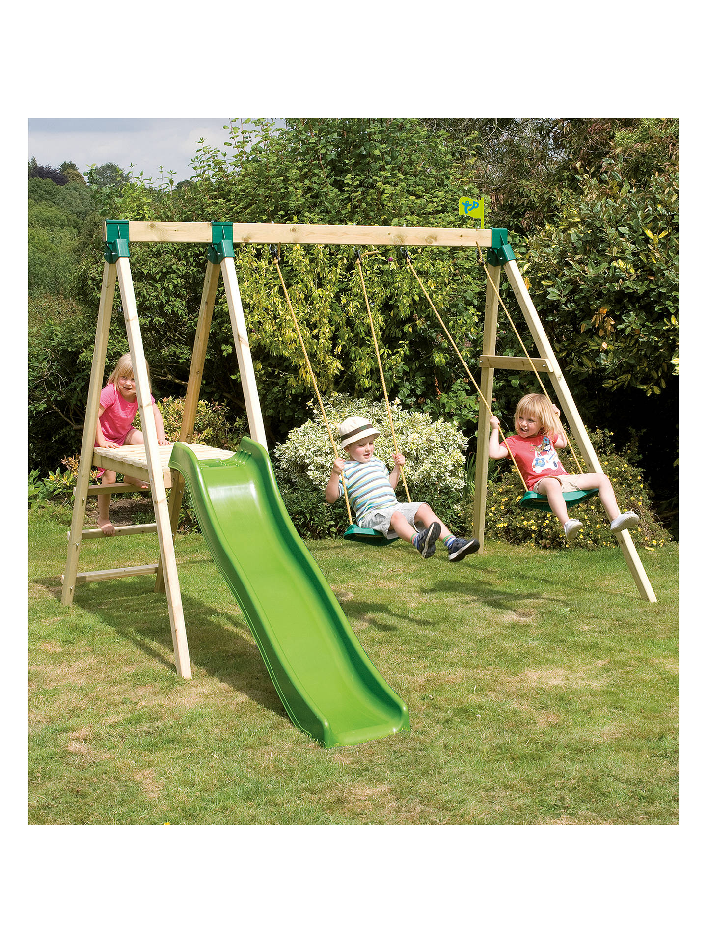 Tp Toys Forest Slide And Swing Multiplay Set At John Lewis Partners