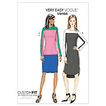 Buy Vogue Women's Dress and Tunic Sewing Pattern, 9166 Online at johnlewis.com