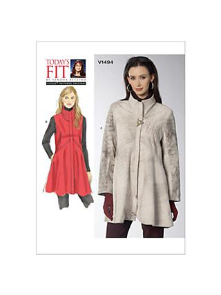Jackets And Coats Sewing Patterns John Lewis Partners