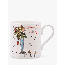 Buy McLaggan Smith Quentin Blake 'Wonderful Mum' Bone China Mug Online at johnlewis.com