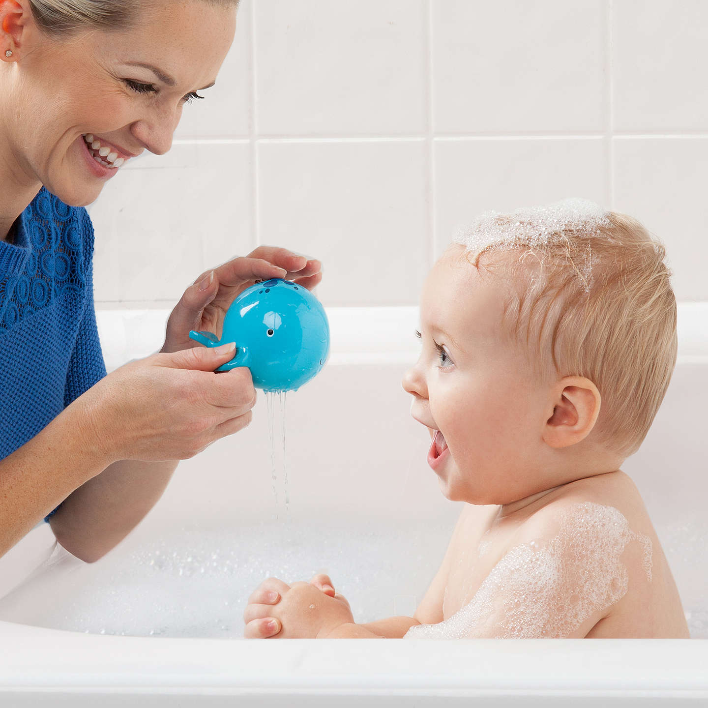 Bright Starts Oball Sink n\' Spill Whale Bath Toy at John Lewis