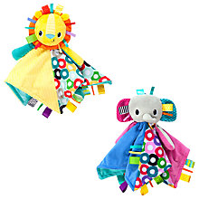 Buy Bright Starts Cuddle 'n Tags Blankie, Assorted Online at johnlewis.com